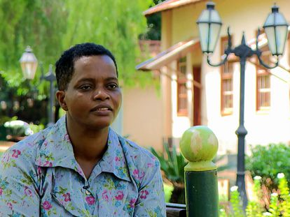 Madalena Gordiano, que trabajó cuatro décadas sin sueldo ni libranzas, durante una entrevista en el programa 'Fantástico', en diciembre, tras ser rescatada.