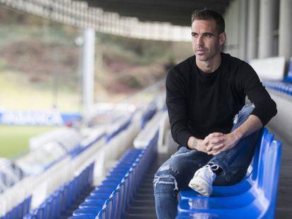 Fernando Navarro, en la Ciudad Deportiva del Depor.