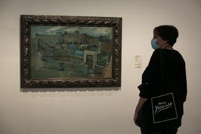 La obra 'Azoteas de Barcelona' de Picasso, 1903, que se pueden volver a ver desde hoy en el Museo Picasso de Barcelona.