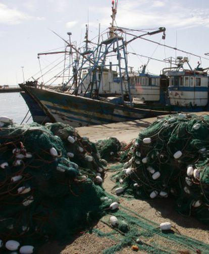 Barcos de pesca en el Puerto de Dajla, Sáhara Occidental en una imagen de archivo.