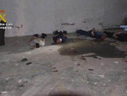 En vídeo, la operación policial que desarticuló a la banda holandesa.