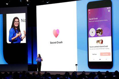 Presentación sobre Facebook Dating en la conferencia anual de desarrolladores de la compañía el pasado mes de abril.