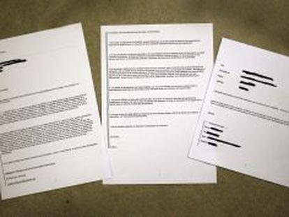 Documentos que recogen correos electrónicos entre el gabinete técnico de la Consejería de Solidaridad y Ciudadanía y la Fundación Hemisferio.