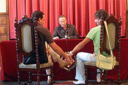 Boda de dos homosexuales en Lleida a comienzos de este mes.