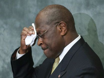 El aspirante republicano a la Casa Blanca, Herman Cain.