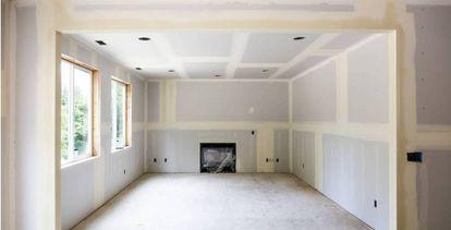 Obras de reforma en una vivienda, en una imagen de archivo.
