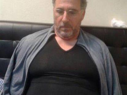 El capo de la 'ndrangheta Rocco Morabito, en el momento de su detención en Montevideo.