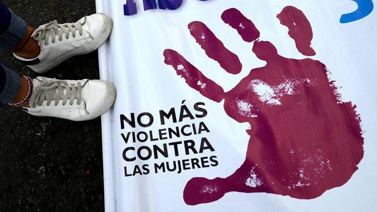 Una protesta en Lima dentro de la campaña #NiUnaMenos, en una imagen de archivo.