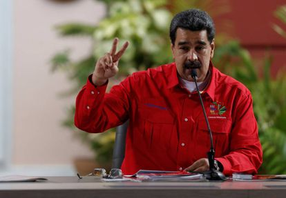 El mandatario venezolano, Nicolás Maduro, el pasado domingo en Caracas.