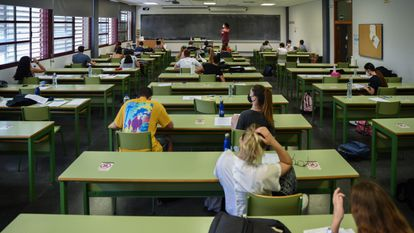 Prueba de la EVAU en la Universidad Politécnica de Valencia el pasado 8 de junio.
