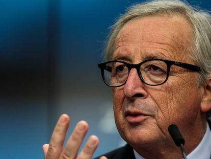 El presidente de la Comisión Europea, Jean-Claude Juncker, el pasado viernes en Bruselas.