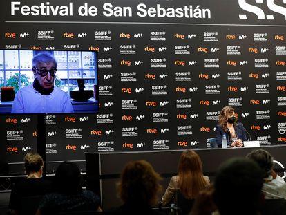 """Presentación de """"Rifkin's Festival"""", la película de Woody Allen rodada en San Sebastián, en el Festival de Cine"""