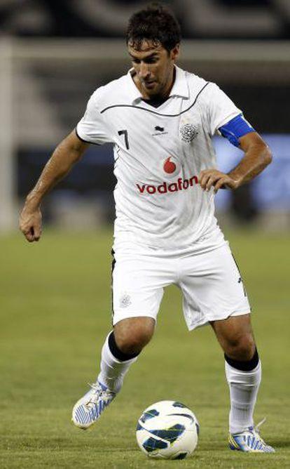 Raúl González, durante un partido con el Al Sadd