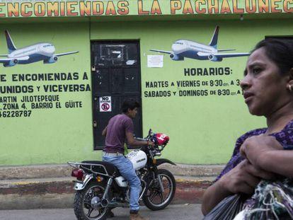 Un establecimiento de envíos a EE UU, en Jilotepeque, Guatemala.