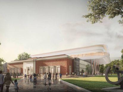 Una imagen del proyecto de ampliación del Museo de Bellas Artes de Bilbao.
