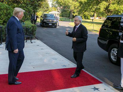 López Obrador se encuentra con Trump en la Casa Blanca para la cena con los empresarios.