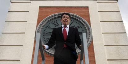 Ignacio González, en el reloj de la Puerta del Sol.