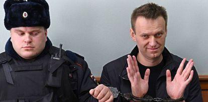 Alexei Navalni, en un juzgado de Moscú, el pasado 26 de marzo.