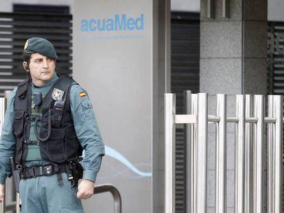 Registro de la Guardia Civil en las oficinas de Acuamed.