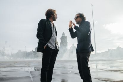 Sequence of the filming in Mexico City of 'Bardo', the new film by González Inárritu