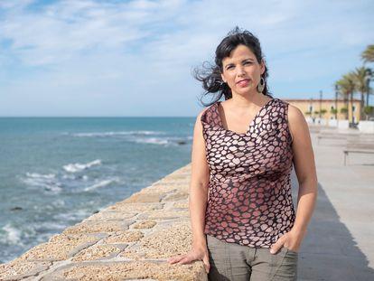 La ex coordinadora de Podemos en Andalucía, Teresa Rodríguez, en Cádiz.