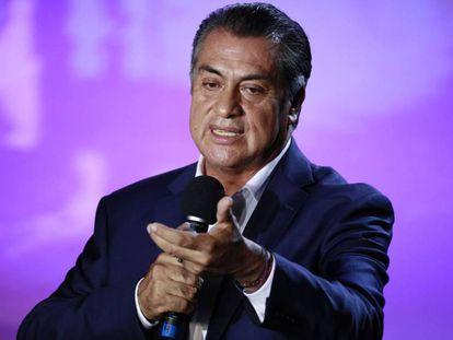 El candidato independiente a la presidencia de México, Jaime Rodríguez 'El Bronco'. En vídeo, su intervención sobre la crisis migratoria durante un debate.