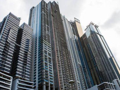 Vista de rascacielos en Ciudad de Panamá.