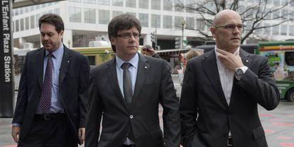 El Presidente de la Generalitat, Carles Puigdemont, el pasado jueves en Washington.