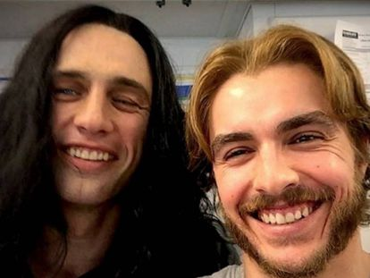 James Franco y su hermano Dave durante el rodaje de 'The Disaster Artist'