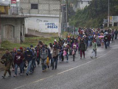 El país norteamericano se instala como una opción para los migrantes que no logren pasar la frontera con Estados Unidos. La caravana toma fuerza e incorpora a más personas de Guatemala y El Salvador