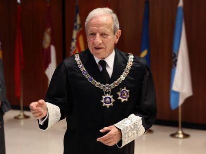 Pascual Sala, en junio de 2013, cuando presidía el Tribunal Constitucional.