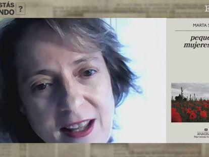 Marta Sanz participa desde su casa en el programa ¿Qué estás leyendo?