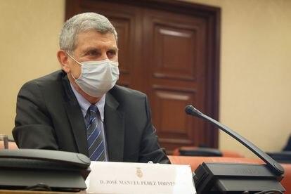 José Manuel Pérez Tornero, al ser examinado por el Congreso para la renovación del Consejo de RTVE.