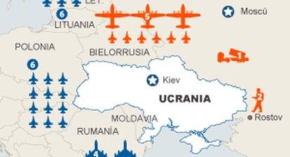 Movimientos militares en torno a Ucrania