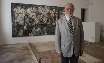 El coleccionista Roberto Polo, en la inauguración del Museo de Arte Contemporáneo de Castilla-La Macha, en Toledo.