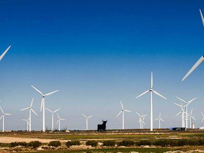 Vista de un parque eólico en España.