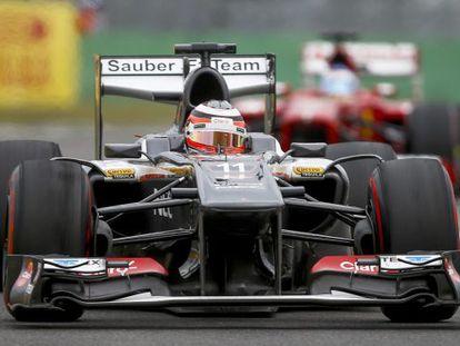 HUlkenberg, piloto de Sauber, en el circuito de Corea.