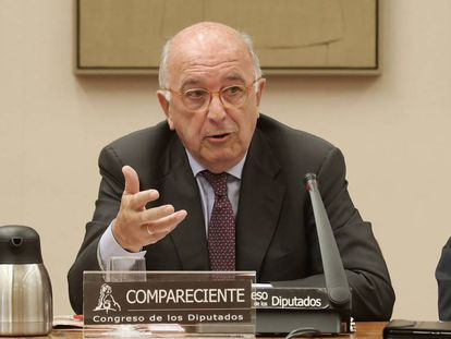 Joaquín Almunia, durante su intervención.