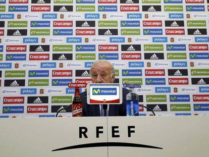 El seleccionador español, Vicente del Bosque, el martes.