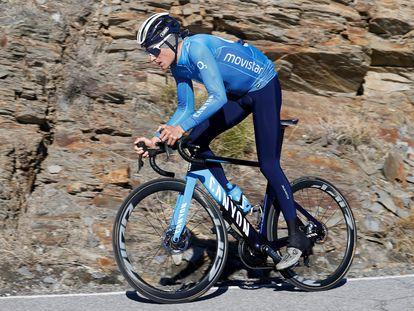 Enric mas, durante un entrenamiento este febrero.