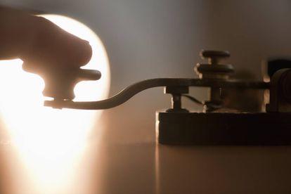 Interruptor de una antigua máquina telegráfica de código Morse.