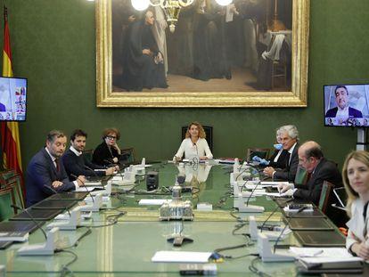 Reunión de la Junta de Portavoces este martes en el Congreso de los Diputados.