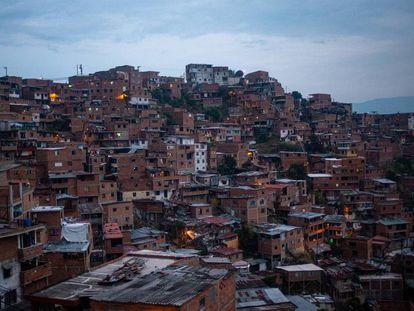 Barrio en los suburbios de Medellín, en Colombia.