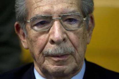 El genocida Efraín Ríos Montt.