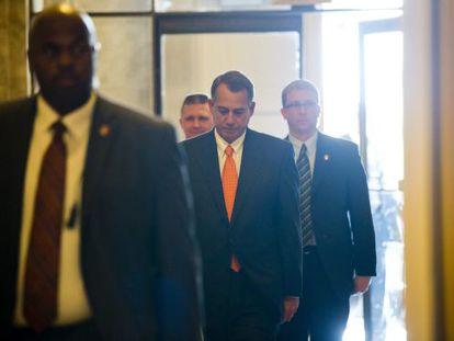 John Boehner, al centro.