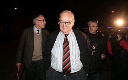 El expresident saliendo de los juzgados de Reus