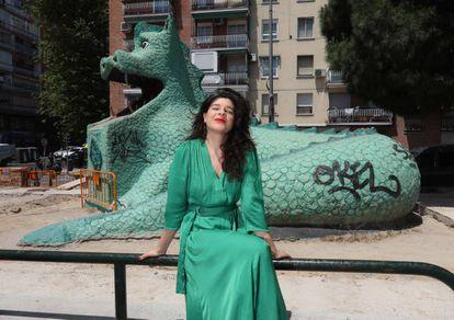 Nerea Perez de las Heras en el Dragón de La Elipa, barrio donde reside.