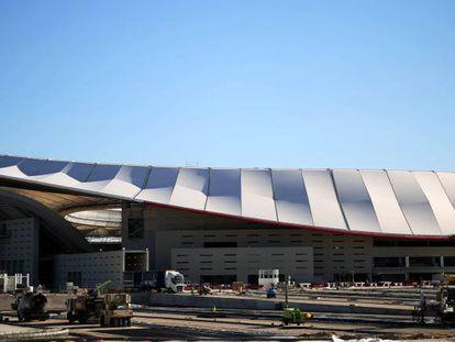 Cubierta del estadio Wanda Metropolitano, sede del Atlético de Madrid.