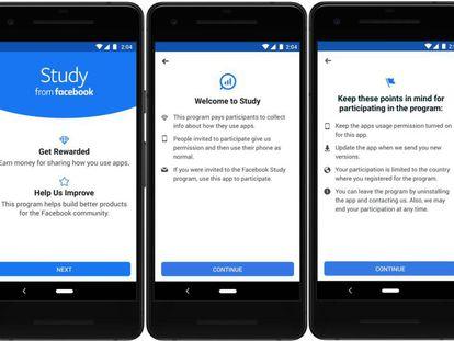 La aplicación Study from Facebook
