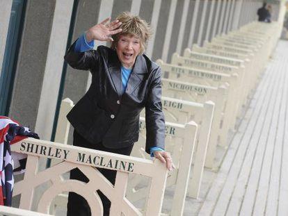 Shirley MacLaine, en el festival de cine estadounidense de Deauville (Francia).